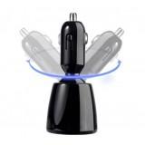 rotatable dual USB car charger for iphone ipod ipadmini