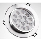 Rotatable silver 15-18W 12V LED ceiling lights