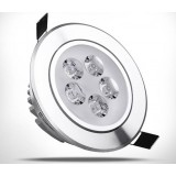 Rotatable silver 5-7W 12V LED ceiling lights