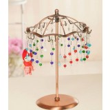 Rotated umbrella necklace aircraft earrings display
