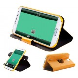 Rotating stand leather case for Samsung galaxy 4