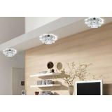 Round Multicolor Crystal 3W LED ceiling lights