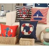 Sailor series linen pillow cover