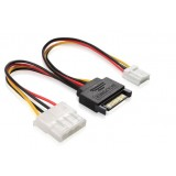SATA 15pin male to a big 4pin and one small 4pin power cord / for IDE devices