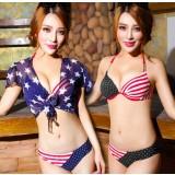 Sexy national flag striped bikini swimsuit