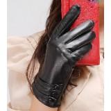 Sheep leather keep warm winter gloves