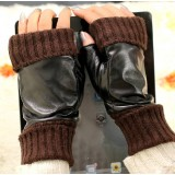 Sheepskin winter keep warm thick leather gloves