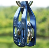 Side panels movable alloy climbing pulley