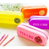 Silicone color large-capacity pencil bag