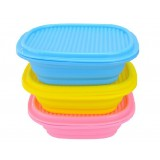 Silicone folding camping lunch box