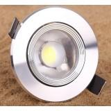 Silver 3W 12-20V COB LED ceiling lights