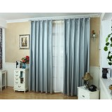 Silver full light blocking curtains