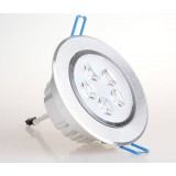 Silver rotatable 3-7W LED ceiling lights