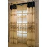 Simple modern elegant embroidered curtains