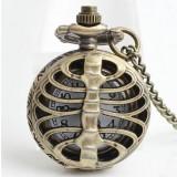 Skeletal series necklace watch