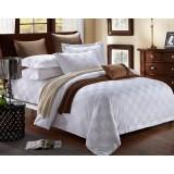 small checks cotton satin 4pcs bedding sheet set for hotel