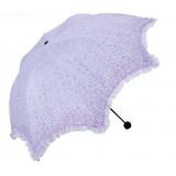 Small dots + lace folding sun umbrella