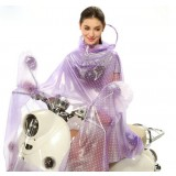 Small dots transparent raincoat for motorcycle