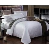 Small flower patterns cotton satin 4pcs bedding sheet set for hotel