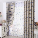 Small flowers garden style curtains