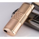 Small plaid alloy windproof lighter