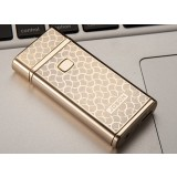 Small Plaid electric arc USB charging windproof lighter