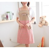 Small plaid sleeveless cotton kitchen aprons