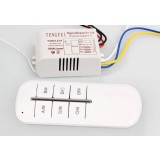 Smart three-way wireless controller for LED ceiling lights