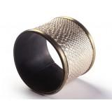 Snake print alloy napkins ring