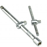 Socket wrench sliding extension bar