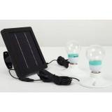 Solar garden double LED lights