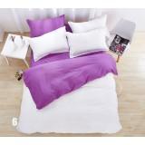 Solid color 4pcs pure cotton bedding sheet set