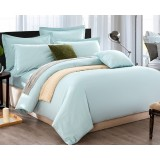 Solid color cotton satin series 4pcs bedding sheet set for hotel