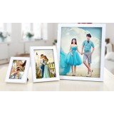 Solid wood photo frame
