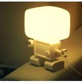 Sound + Light control robot Nightlight