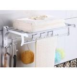 Space aluminum folding bath towel holder