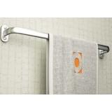 Space aluminum lengthened bath towel holder