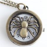 Spider necklace watch