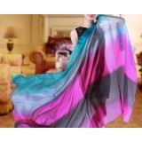 Spring and autumn long changing color silk scarves