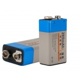 Square 9V rechargeable battery 280mAh battery