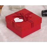 Square bow wedding favor box