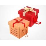 Square kraft paper gift box