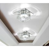 Square Multicolor Crystal 3W LED ceiling lights