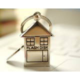 Stainless steel house shape USB flash drive
