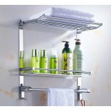 Stainless steel multifunction bathroom sundries rack