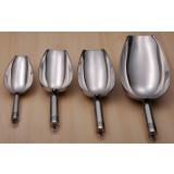 Stainless steel multipurpose ice scoop