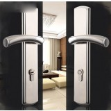 Stainless steel security door lock / double open handle door lock