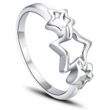 Star wishes Sterling silver women's ring