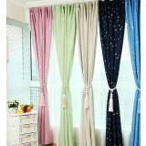 Starry pastoral style curtains