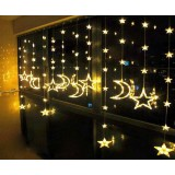 Stars and moon curtains 184 LED holiday lights